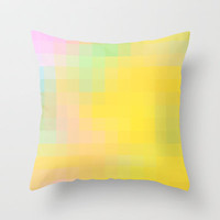 Re-Created Colored Squares No. 36 Throw Pillow by Robert Lee