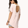 Cutout Striped Tee