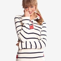 Navy Stripe Cowdray Womens Striped Sweater  | Joules US