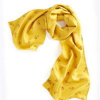 Yellow Cocoon Ladies Scarf , Size US ONE SIZE | Joules US