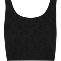 Petite Black Lace Bralet Top - New In This Week  - New In