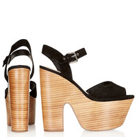 LASSIE Shiny Stack Platforms - Heels - Shoes - Topshop