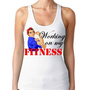 Working on my Fitness Rib Tank  - Rosie the Riveter, Fitness Inspiration, Woman's workout tanks