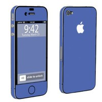 Apple iPhone 4 or 4s Full Body Vinyl Protection Decal Skin Hot Blue:Amazon:Cell Phones & Accessories