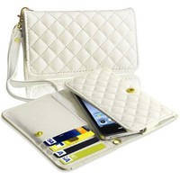 eForCity Leather Cell Phone Wallet Case, White:Amazon:Cell Phones & Accessories