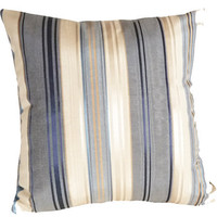 Striped DecorativeThrow Pillow in Blues by PillowThrowDecor