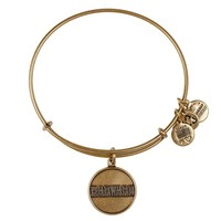 Alex and Ani Harvard University Logo Charm Bangle - Russian Gold