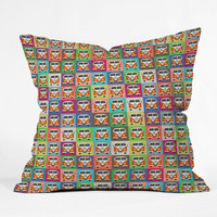 DENY Designs Home Accessories | Sharon Turner Peace Campers Outdoor Throw Pillow