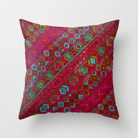 summer nights Throw Pillow by Sharon Turner