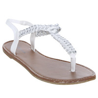 Metallic Stitch Sandal | Shop Shoes at Wet Seal