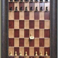 Straight Up Chess - Red Cherry Chessboard with Walnut Scoop Frame:Amazon:Sports & Outdoors