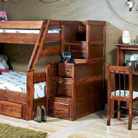Prescott Twin over Full Stairway Bunk Bed