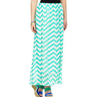 Catch My i Chevron-Print Maxi Skirt 					 					 				 			 | Dillard's Mobile