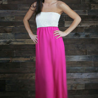 Secret Garden Strapless Maxi
