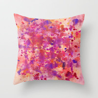 Cherry Throw Pillow by Erin Jordan