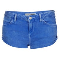 MOTO Cornflower Blue Hotpants - Shorts - Clothing - Topshop USA