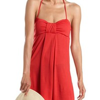 Sweetheart Halter Knit Dress: Charlotte Russe