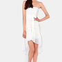 Angel Falls Strapless Ivory Lace Dress