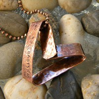believe copper heart pendant