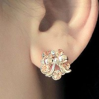 Bow and Diamond Wreath Fashion Earrings | LilyFair Jewelry