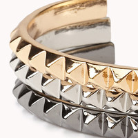 Pyramid Studded Cuff Set | FOREVER 21 - 1056709654
