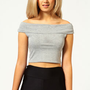 Lilly Off The Shoulder Crop Bardot Top