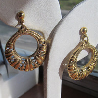 Loop pierced earrings, 1980 era earrings, collecting earrings
