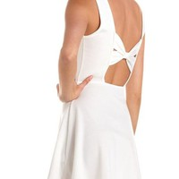 Bow-Back Ponte Skater Dress: Charlotte Russe