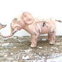 Metal Bank Ru Gar Ent Co Pink Elephant Bank Cast Iron Piggy Bank Ru Gar Baby Girl Gift Mechanical Bank