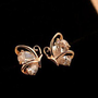 Butterfly Lovers Rhinestone Earrings | LilyFair Jewelry
