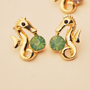 Seahorse and Treasure Rhinestone Fashion Earrings | LilyFair Jewelry