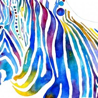 Zebra Stripes Painting by Jo Lynch - Zebra Stripes Fine Art Prints and Posters for Sale