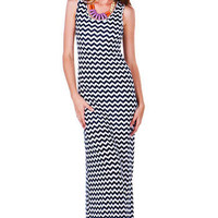 Tallulah Falls Chevron Maxi Dress
