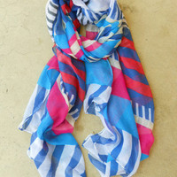 Nautical Stripe Scarf [3822] - $14.00 : Vintage Inspired Clothing & Affordable Summer Frocks, deloom | Modern. Vintage. Crafted.