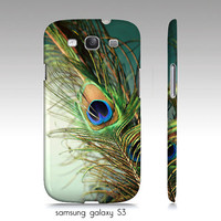 "samsung galaxy S3, iphone4, 4s,5 case, ""Peacock feather teal"" turquoise, aqua, macro photography"