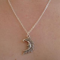 necklace, moon necklace from nikajewellery