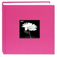 Pioneer 200 Pocket Fabric Frame Cover Photo Album, Bright Pink:Amazon:Arts, Crafts & Sewing