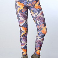 Leah McSweeney The Aztec Leggings in Purple:Amazon:Clothing