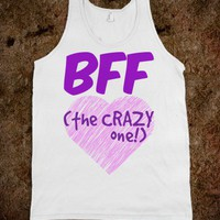 BFF - THE CRAZY ONE! (PURPLE TANK)