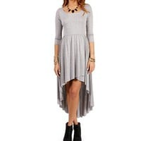 Heather Grey Hi Lo Tunic