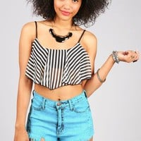 Stripe Away Crop Top | Crop Tops at pink Ice