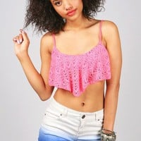 Vivid Knit Crop Top | Bright Tops at Pink Ice