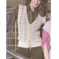 Lace Blouson Crochet Vest Pattern pattern on Craftsy.com
