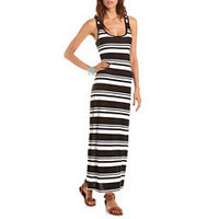 Striped Racerback Maxi Dress: Charlotte Russe
