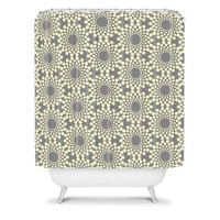 DENY Designs Home Accessories | Budi Kwan Here Comes The Sun Silver Shower Curtain