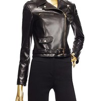 Versace - Leather Biker Jacket