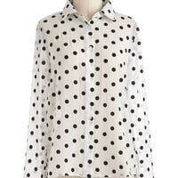 Speckled Splendor Top | Mod Retro Vintage Short Sleeve Shirts | ModCloth.com