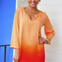 Fade For Me Tunic: Orange Ombre | Hope's