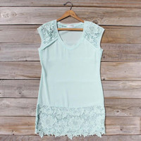 Sea Foam Lace Dress, Sweet Women's Country Clothing