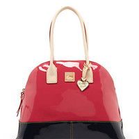 Dooney & Bourke Patent Domed Satchel 					 					 				 			 | Dillard's Mobile